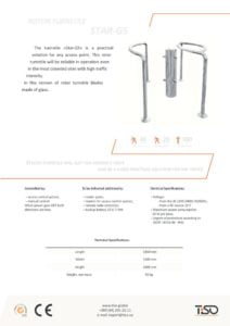 thumbnail of Tiso rotaciona barijera-star-gs half-height turnstile