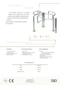 thumbnail of Tiso rotaciona barijera-star-ts half-height turnstile